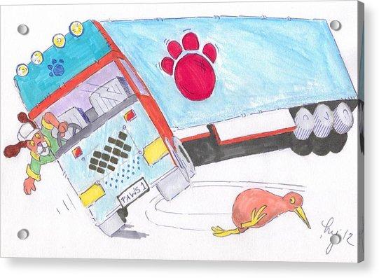 Cartoon Truck Lorry Acrylic Print