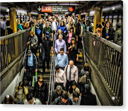 Acrylic Print featuring the photograph Catching The Subway by Alice Gipson