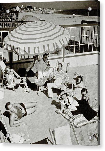 Celebrities On A Beach Acrylic Print