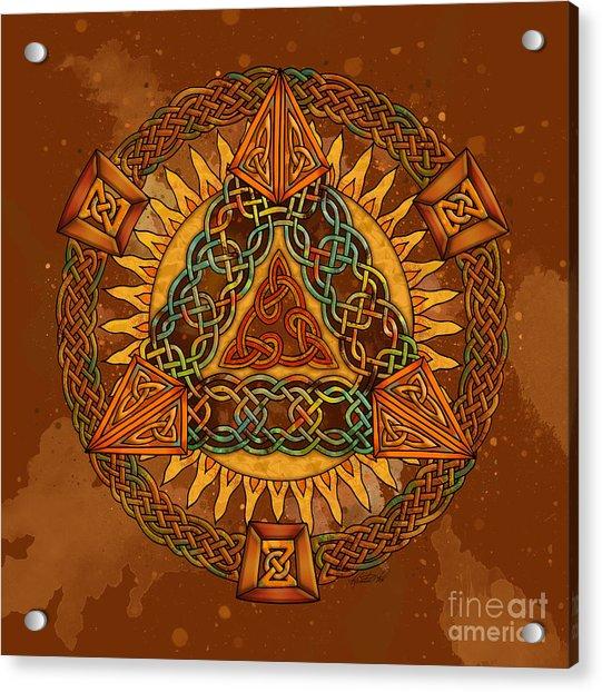 Celtic Pyramid Mandala Acrylic Print