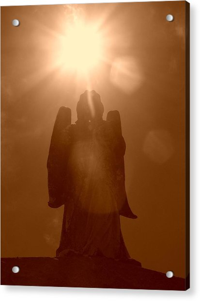Acrylic Print featuring the photograph Cemetery Angel by Cynthia Marcopulos