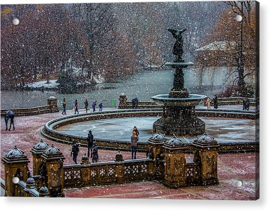 Acrylic Print featuring the photograph Central Park Snow Storm by Chris Lord