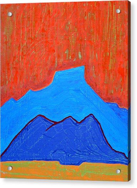 Cerro Pedernal Original Painting Sold Acrylic Print