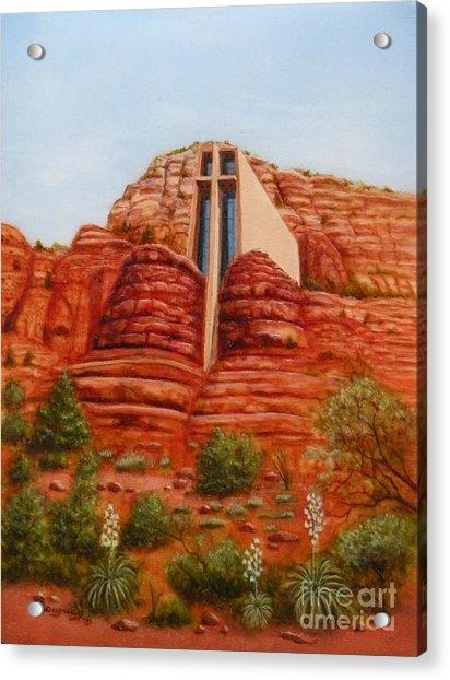 Chapel Of The Holy Cross Acrylic Print