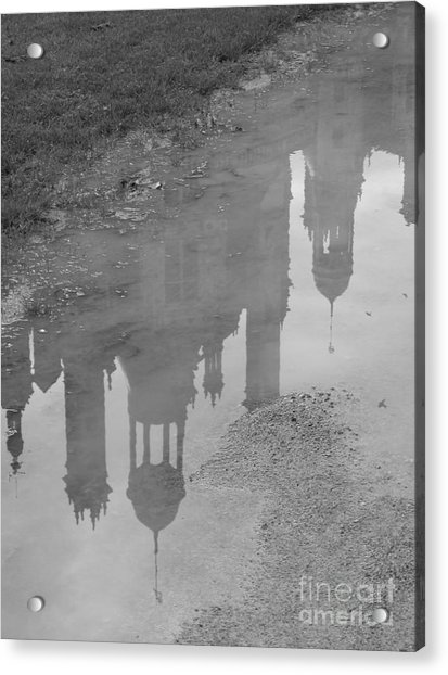 Chateau Chambord Reflection Acrylic Print