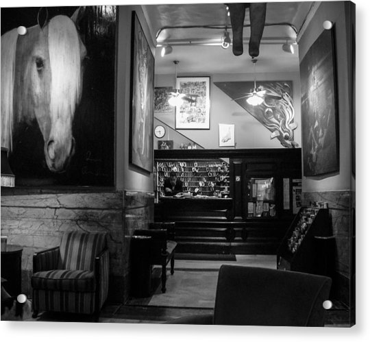 Chelsea Hotel Night Clerk Acrylic Print