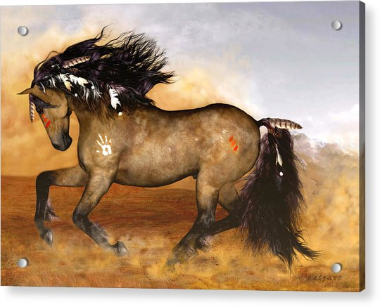 Acrylic Print featuring the painting Cherokee by Valerie Anne Kelly