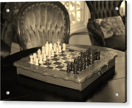 Acrylic Print featuring the photograph Chess Game by Cynthia Guinn