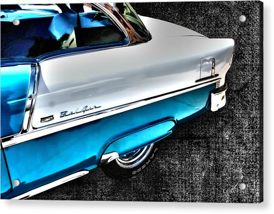 Chevy Bel Air Art 2 Tone Side View Art 1 Acrylic Print