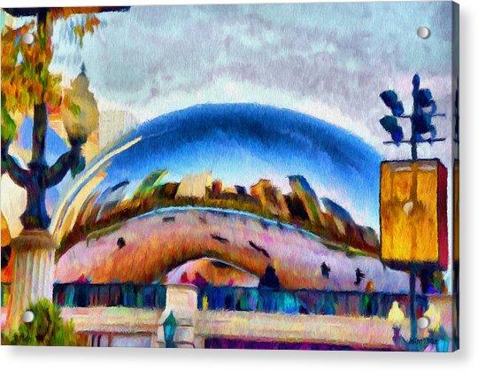 Chicago Reflected Acrylic Print