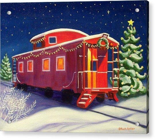 Christmas Caboose Acrylic Print
