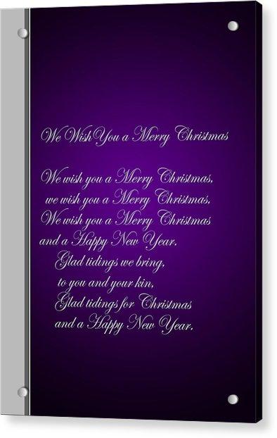 Christmas Carol 1 Acrylic Print