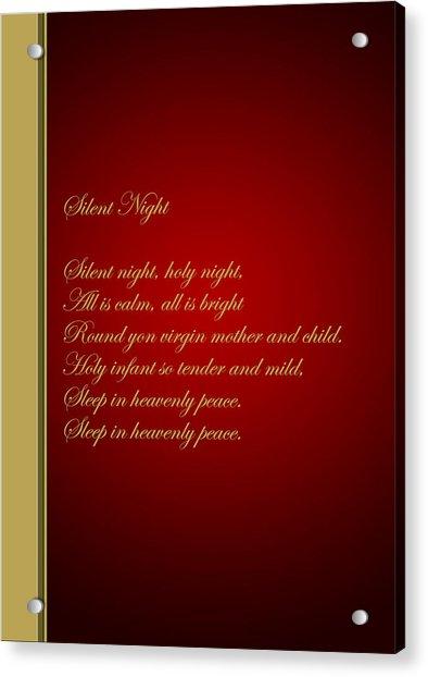 Christmas Carol 4 Acrylic Print