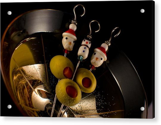 Christmas Crowded Martini Acrylic Print