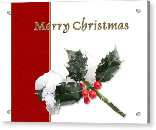 Christmas Holley Acrylic Print