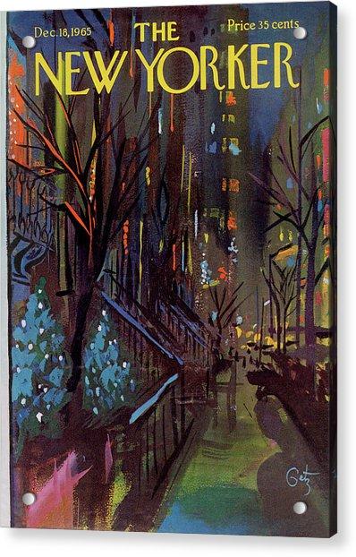 Christmas In New York Acrylic Print