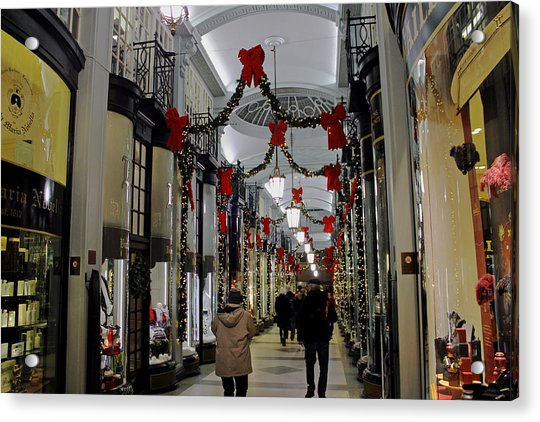 Christmas In Piccadilly Arcade Acrylic Print