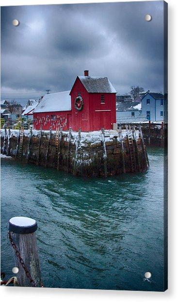 Christmas In Rockport Massachusetts Acrylic Print