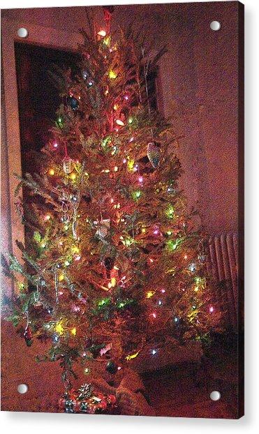 Christmas Tree Memories Red Acrylic Print