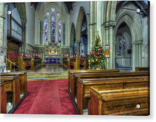 Church At Christmas V3 Acrylic Print