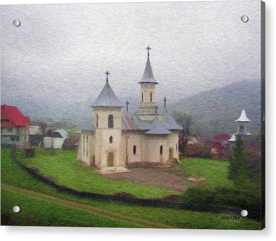 Church In The Mist Acrylic Print