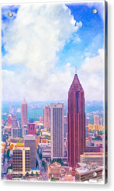Classic Atlanta Midtown Skyline Acrylic Print