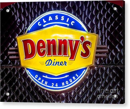 Classic Dennys Diner Sign Acrylic Print