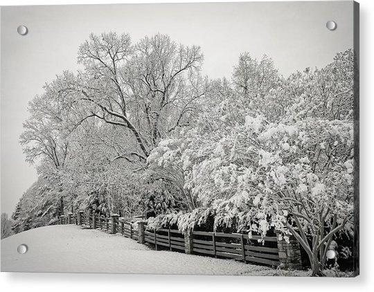 Classic Snow Acrylic Print