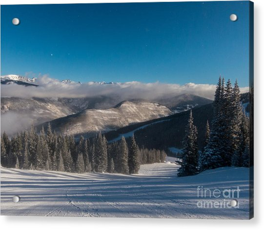 Clouds Moving In Acrylic Print