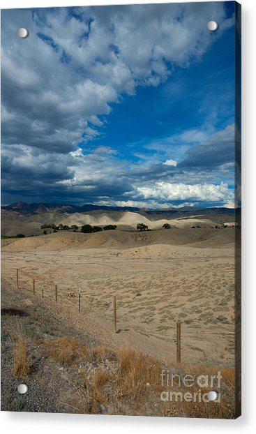 Clouds Over The Adobes Acrylic Print