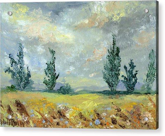 Cloudy Landscape Before The Rain Acrylic Print