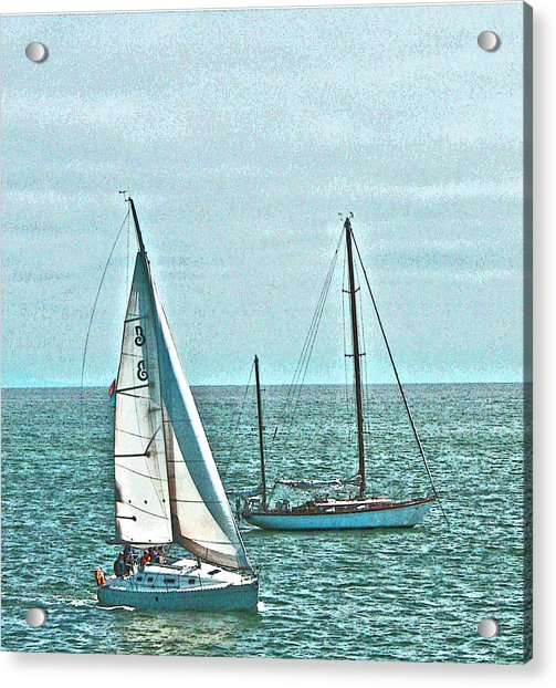 Coastal Sail Boats Acrylic Print