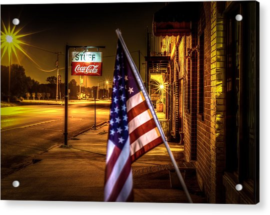 Coca-cola And America Acrylic Print