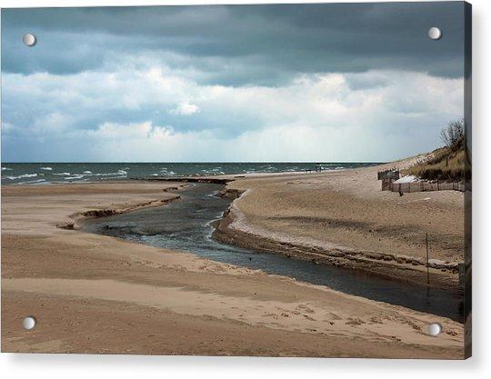 Cold Morning At The Beach Acrylic Print