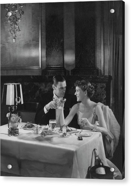 Colin Clive And Rose Hobart At Waldorf Acrylic Print