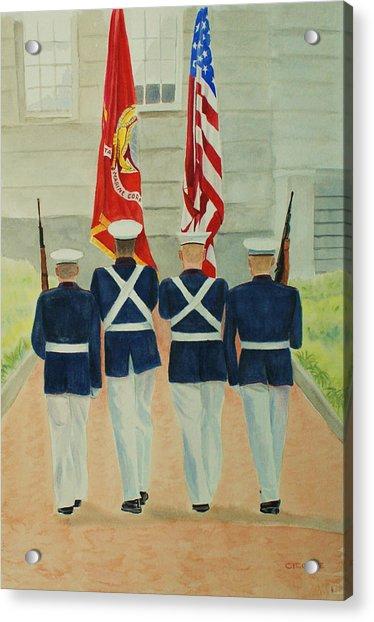 Color Guard Acrylic Print