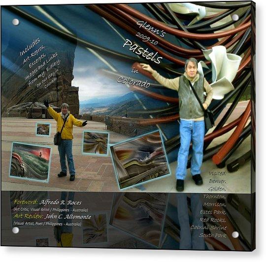 Colorado Art Book Cover Acrylic Print