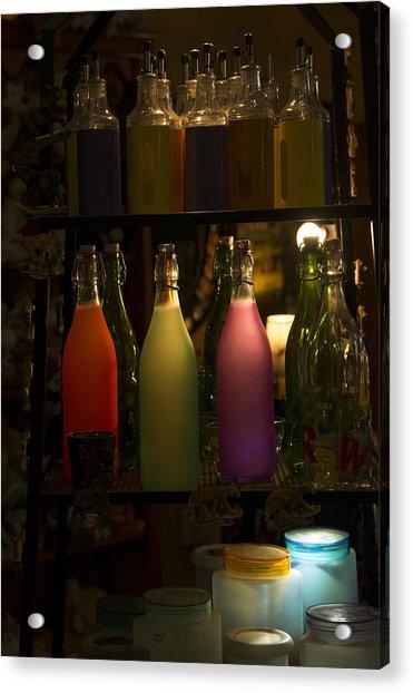 Colorful Bottle Display Acrylic Print