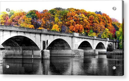 Acrylic Print featuring the photograph Colorful Bridge by Alice Gipson