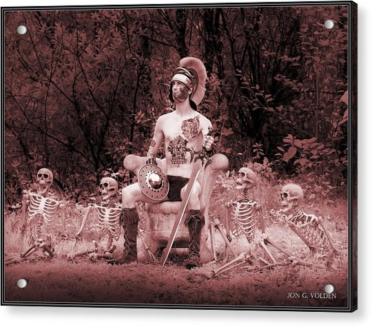 Commander On The Killing Fields Acrylic Print