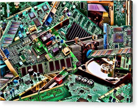 Computer Parts Acrylic Print