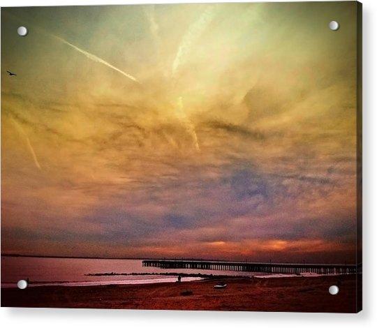 Coney Island After Sandy Acrylic Print