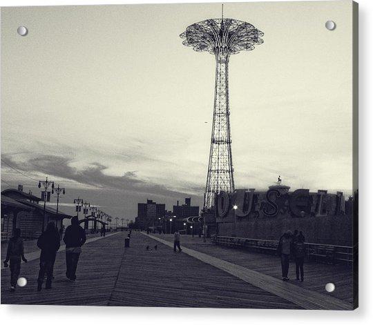 Coney Island Dusk Acrylic Print