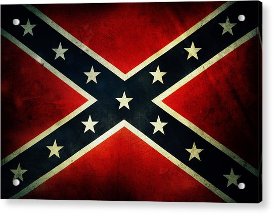 Confederate Flag 4 Acrylic Print