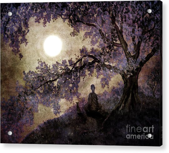 Contemplation Beneath The Boughs Acrylic Print