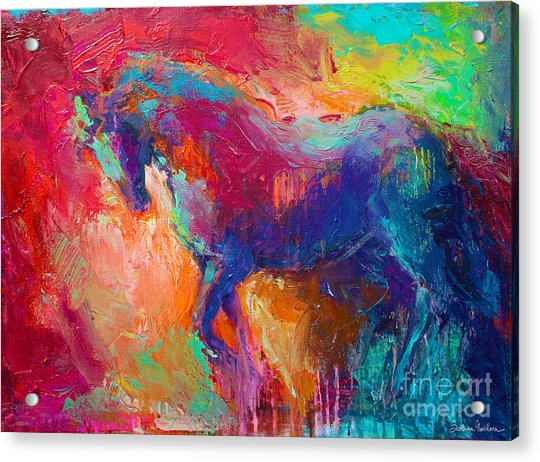 Contemporary Vibrant Horse Painting Acrylic Print