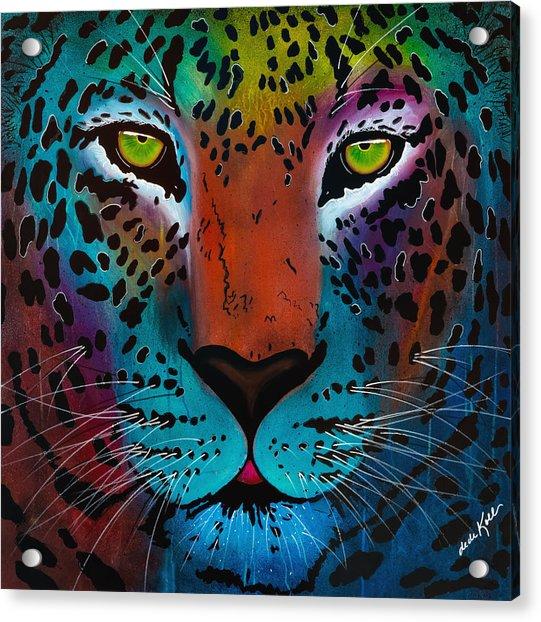 Content Leopard Acrylic Print