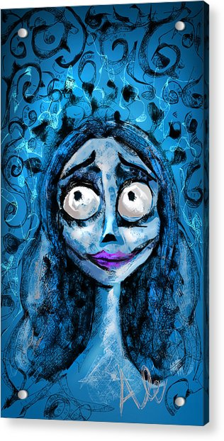Corpse Bride Phone Sketch Acrylic Print