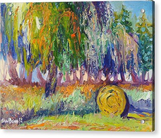 Country Painting By Ekaterina Chernova Acrylic Print