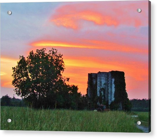 Acrylic Print featuring the photograph Country Sky by Cynthia Guinn